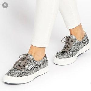 Superga snakeskin sneakers